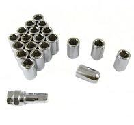 Imbus lug nuts 12x1,5 Silver -Set