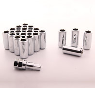 LONG imbus lug nuts 12x1,25 Silver - Set