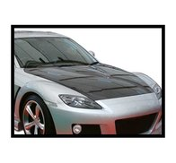 Carbon Fibre bonnet Mazda RX8, without air intake