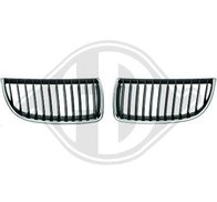 Kylargrill Svart/chrome E90 E91 05-08