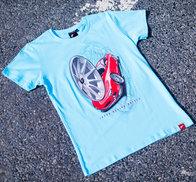 JR Men's T-Shirt JR-11 Car Turquoise