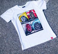 JR Men's T-Shirt MIX White