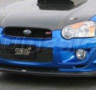 PU Design - STI Style Front Bumper Lip  Subaru Impreza 04-05