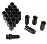 LONG imbus lug nuts 12x1,25 Svart - Set