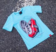 JR Women's T-Shirt JR-11 Car Turquoise