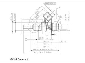 Bosch spridare 2200cc Hög ohm